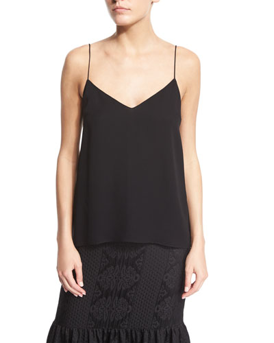 Crepe Camisole Top, Black