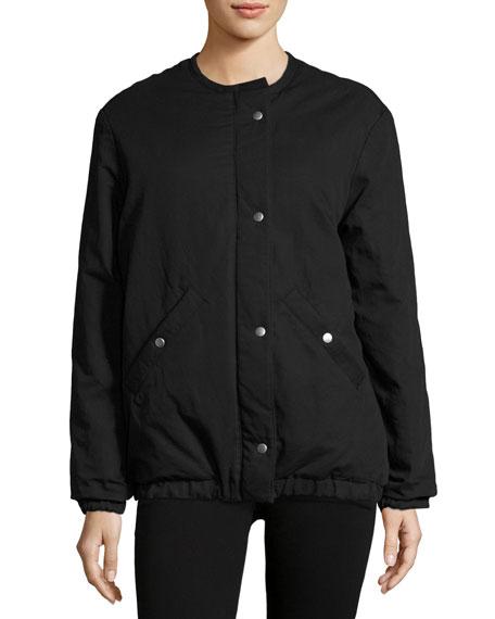 ec6d8946a Celia Puffer Bomber Jacket Black
