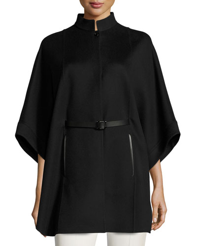 Blake Belted Cashmere Cape