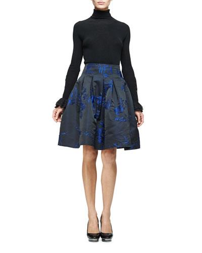 Long-Sleeve Turtleneck Pullover, Black
