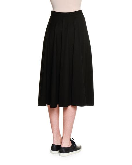 Atomic Jersey Circle Skirt, Black