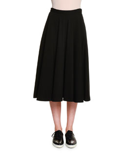 Atomic Jersey Circle Skirt, Black