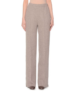 Lightweight Jersey Trousers, Taupe