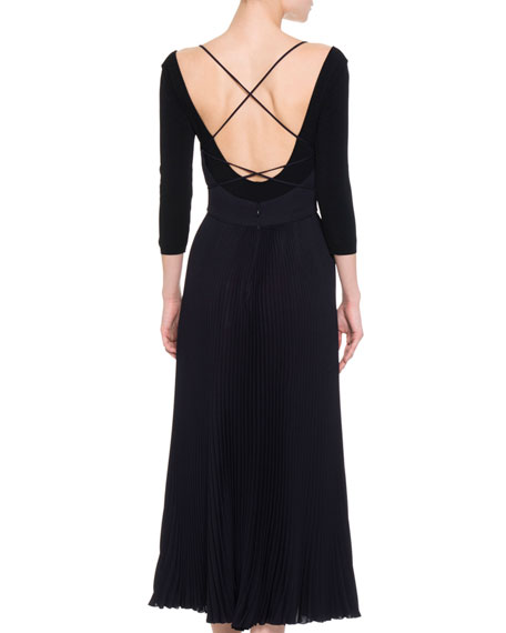 Sleeveless Strappy Crisscross Midi Dress, Midnight