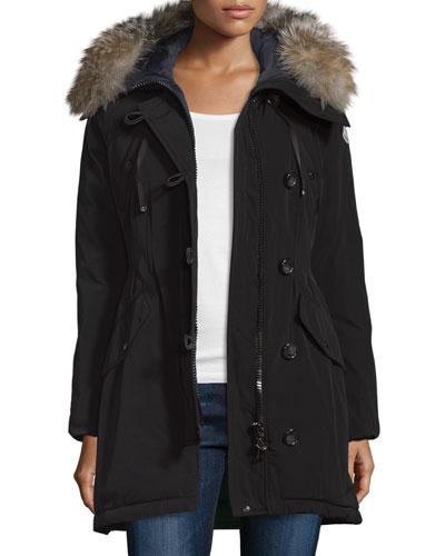 Parka w/Fox Fur Hood, Black