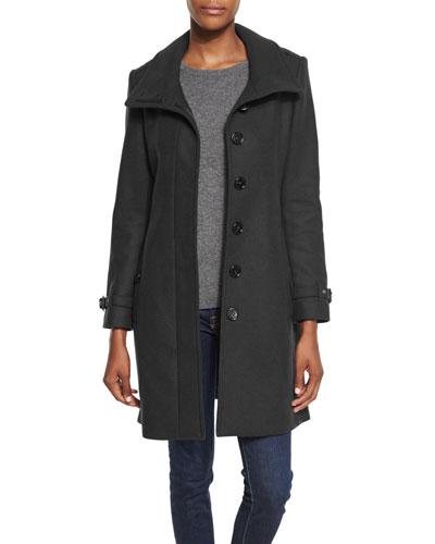 Gibbsmore Wool-Blend Coat, Black