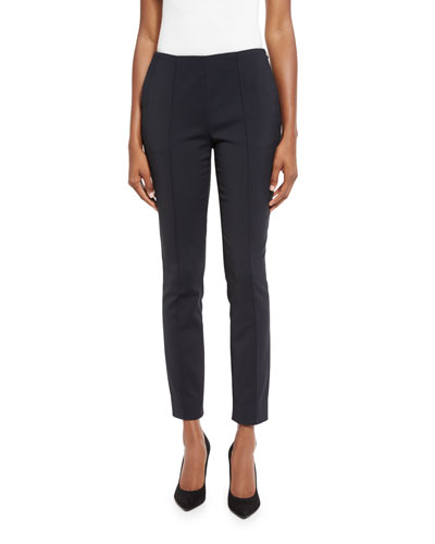 Cropped Side-Zip Pants, Gray