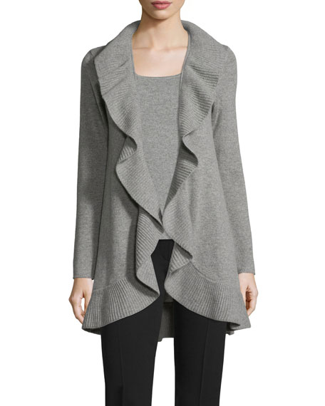 Knit Cashmere Shell, Gray
