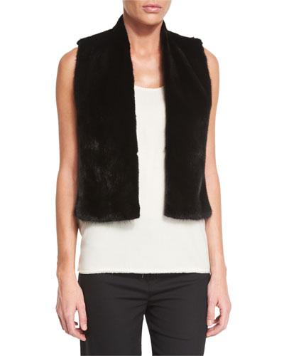 Drudin Mink-Fur Vest, Black