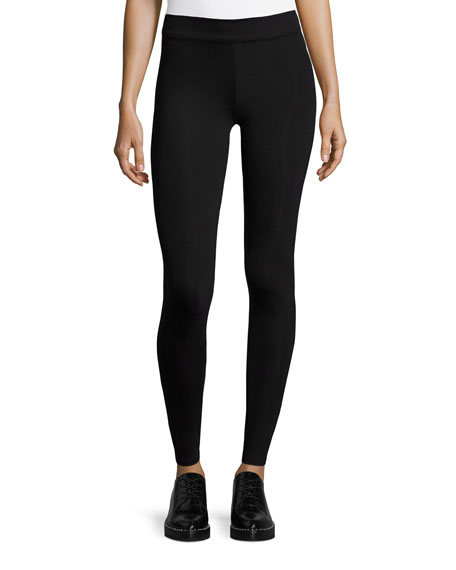 Scuba Jersey Leggings, Black