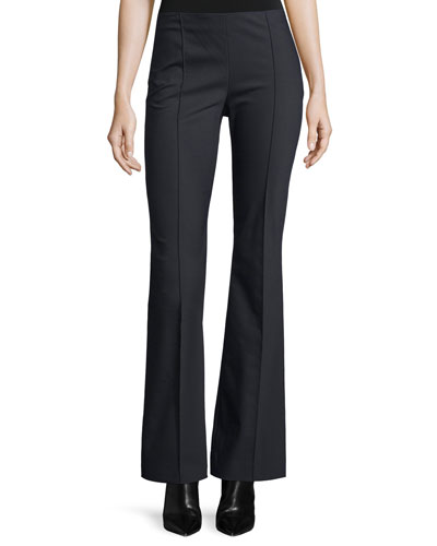 Becaro Seamed Flared Pants, Black