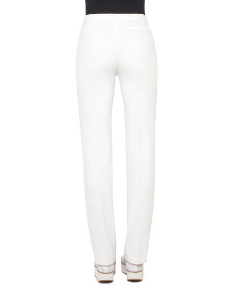 Francoise Techno-Stretch Pants, Cream