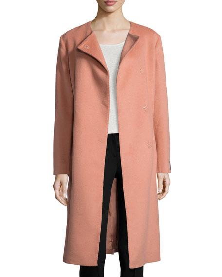 Baby Camel Wrap Coat, Peach