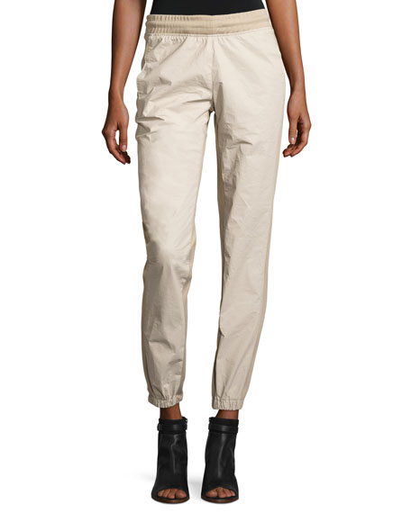 Side-Stripe Jogger Pants, Ivory