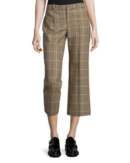 8522872a6937 Balenciaga Cropped Houndstooth Check Pants