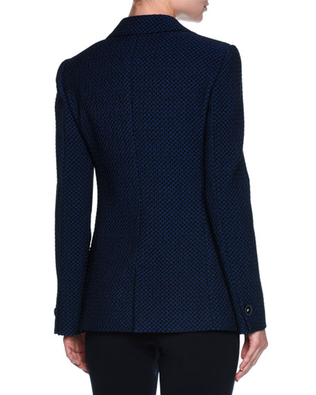 Contrast Dot Stretch Jacket, Midnight Blue