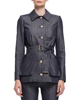 Military Jean Jacket, Blue Jean