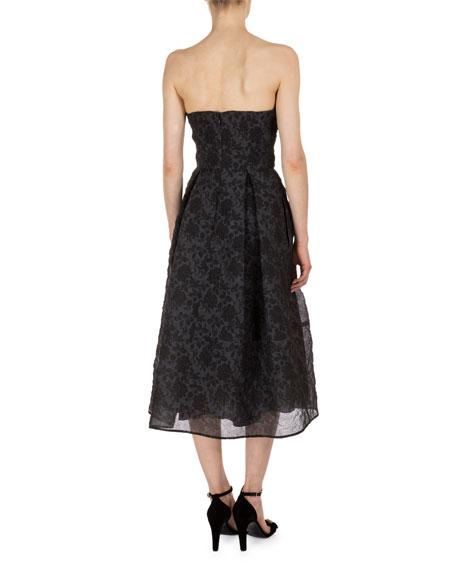 Demet Beaded Strapless Corset Party Dress, Black