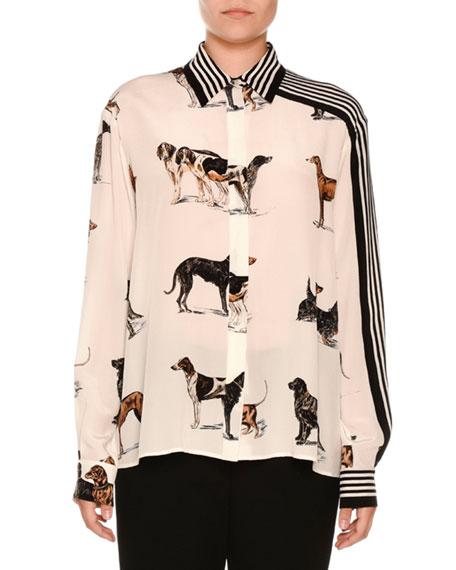 Striped silk blouse Stella McCartney Sale Original Recommend Cheap Online Free Shipping Cheap Online Cheap Sale Best Prices krDRnBWm