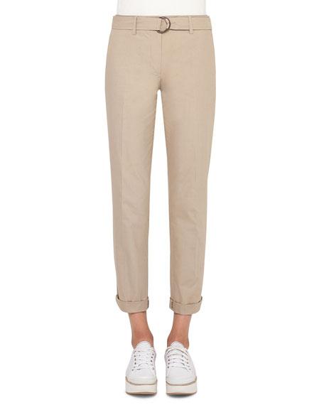 Fallon Straight-Leg Chino Pants, Sand