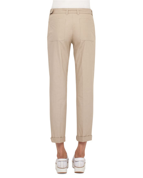 Fallon Straight-Leg Chino Pants, Sand