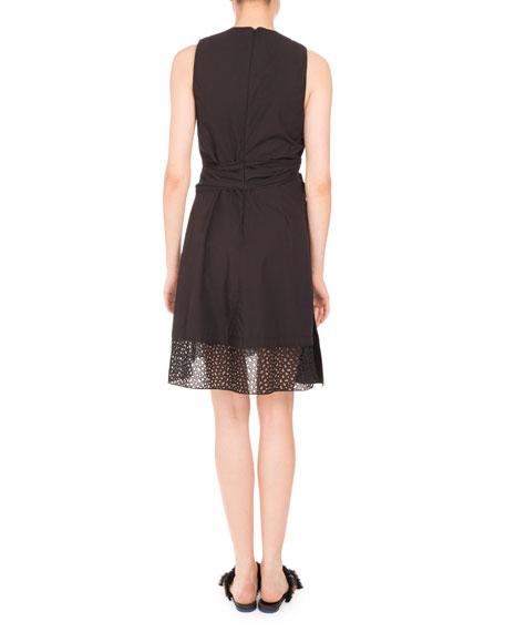 Sleeveless V-Neck Cotton Dress