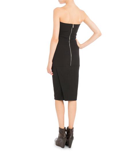 Strapless Body-Con Midi Dress, Black