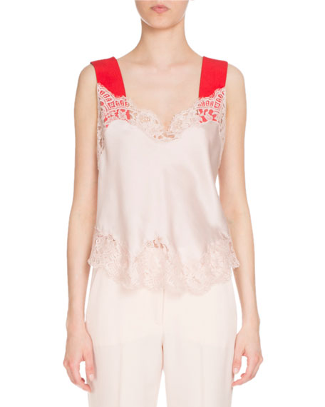 Silk Cami Top, Light Pink