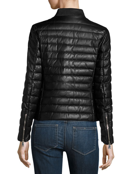 Buglose Quilted Leather Jacket, Black