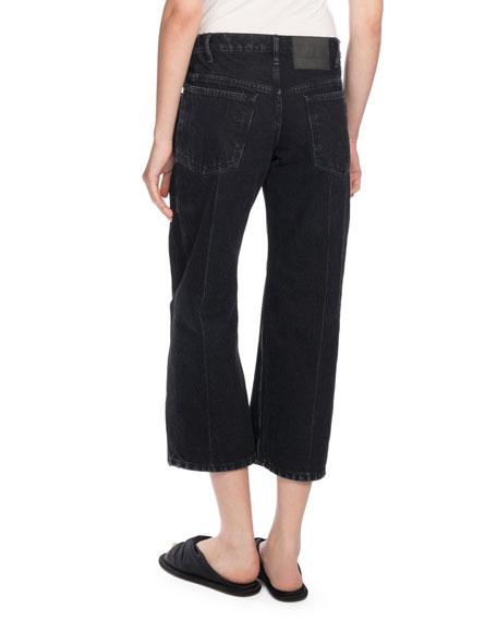 Denim Rockabilly Jeans, Black