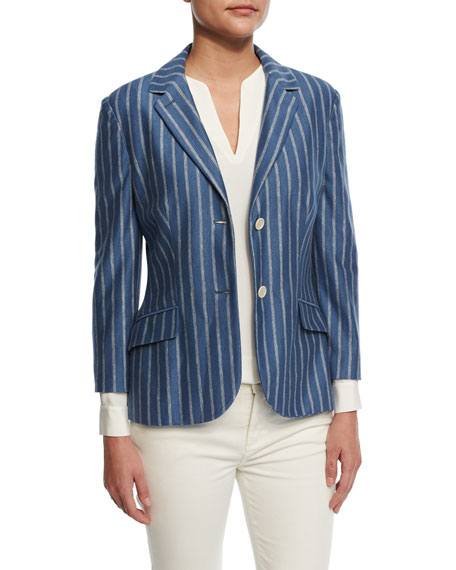 Giacca Shannen St. Louis Jacket, Bleached Sky/White