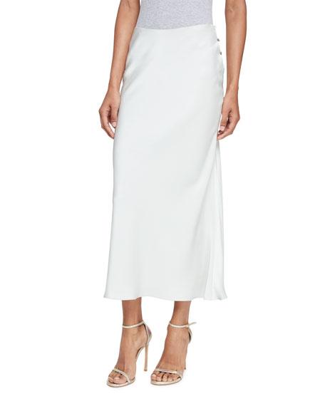 4a92543ed3 Calvin Klein Satin Midi Skirt, Gray