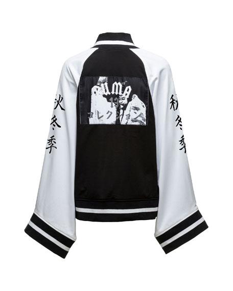 Short Kimono Track Jacket, Puma Black