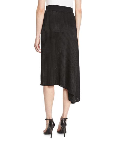 cushnie et ochs shiny asymmetric draped midi skirt