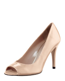 Stuart Weitzman Stylish Peep-Toe Pump, Nude
