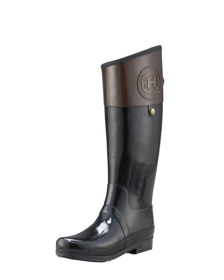 Two-Tone Riding Rain Boot