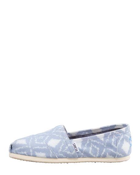Ikat Slip-On Shoe, Blue/White