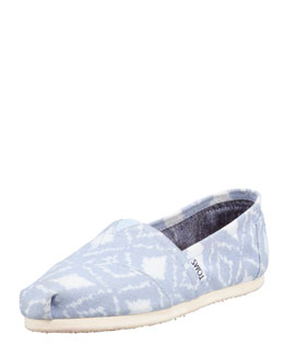 TOMS Ikat Slip-On Shoe, Blue/White