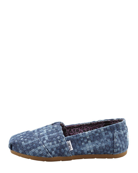 Denim Huarache Slip-On, Blue Denim