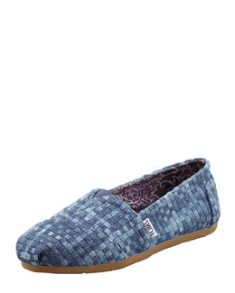 TOMS Denim Huarache Slip-On, Blue Denim