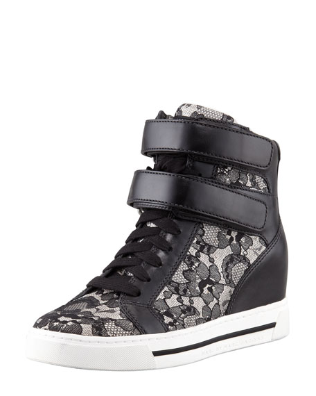 Lace High-Top Sneaker, Black