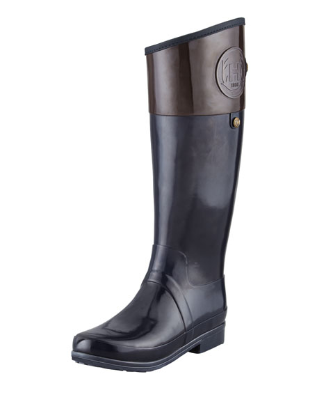 Sandhurst Carlyle Riding Boot, Navy/Chocolate
