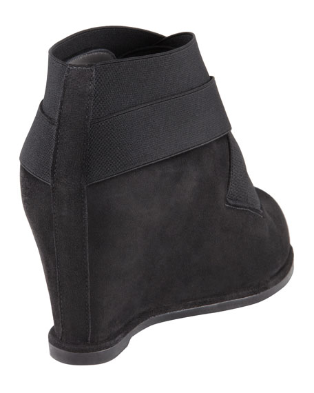 Be Happy Stretch Suede Wedge Bootie