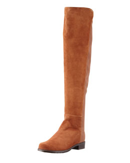 Stuart Weitzman Suede To-the-Knee Boot, Cuero