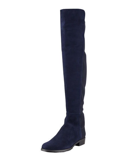 5050 Suede Stretch-Back Knee Boot