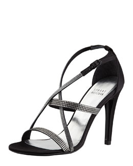 Stuart Weitzman Surreal Crisscross Crystal Evening Sandal