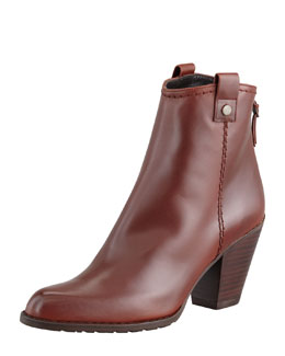 Stuart Weitzman Hipgal Leather Zip Bootie