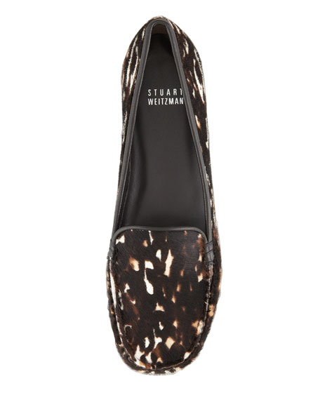 Mach 3 Animal-Print Calf Hair Loafer
