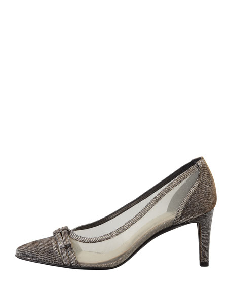 Scenic Metallic Mesh Evening Shoe