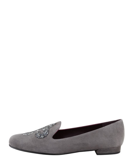 Lys Crystal-Rocks Smoking Slipper, Charcoal
